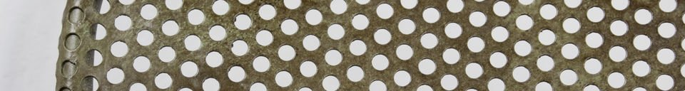 Descriptivo Materiales  Silla industrial con láminas perforadas