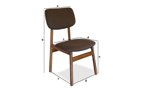 Dimensiones del producto Silla Larsson