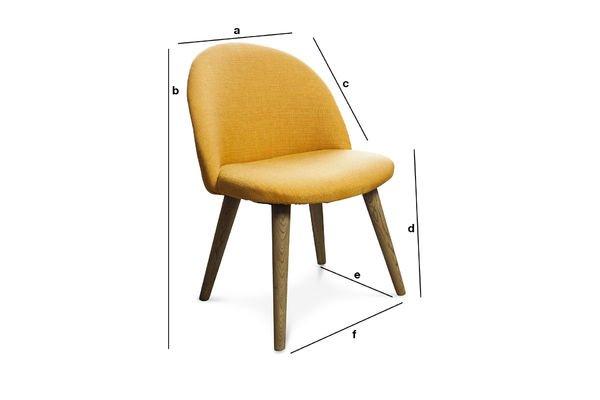 Dimensiones del producto Silla Lear mostaza