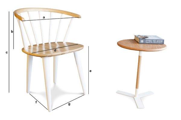 Dimensiones del producto Silla Lidingö