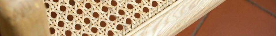 Descriptivo Materiales  Silla mecedora Aksel en caña