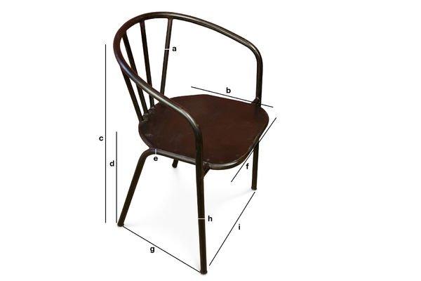 Dimensiones del producto Silla metálica Brenion