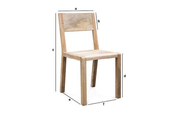 Dimensiones del producto Silla Möka