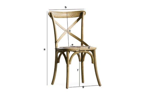 Dimensiones del producto Silla Pampelune Acabado Natural