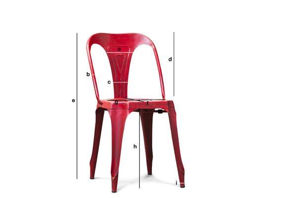 Dimensiones del producto Silla roja Multipl's