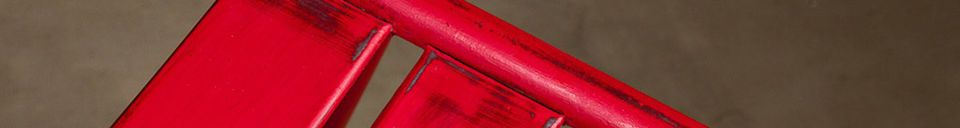 Descriptivo Materiales  Silla roja Pretty