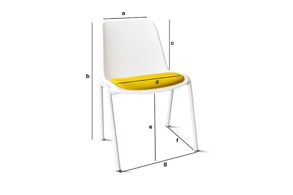 Dimensiones del producto Silla Sören Ocre