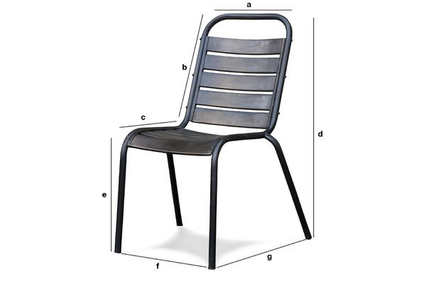 Dimensiones del producto Silla Square