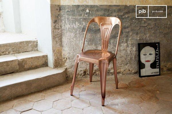 Silla vintage Multipl's Color Bronce