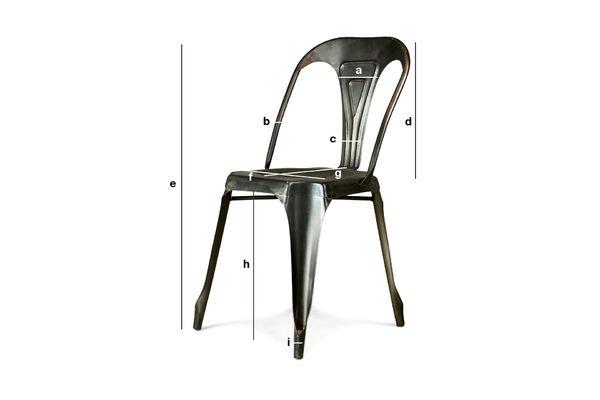 Dimensiones del producto Silla Vintage Multipl's