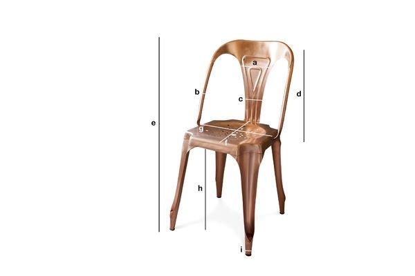 Dimensiones del producto Silla Vintage Multipl's color bronce