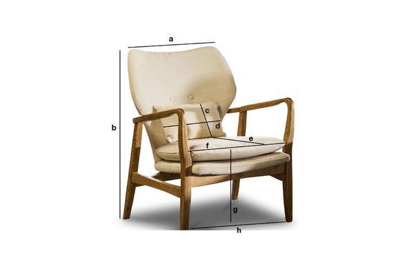 Dimensiones del producto Sillón Breda