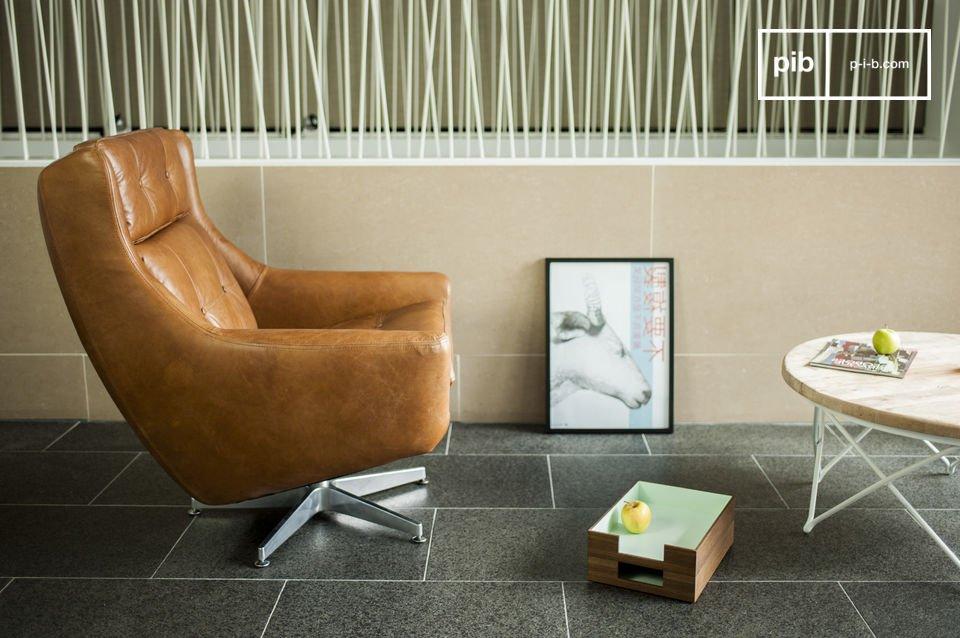 El sillón Bushley es un ejemplo perfecto de los muebles con diseño en cuero de los años