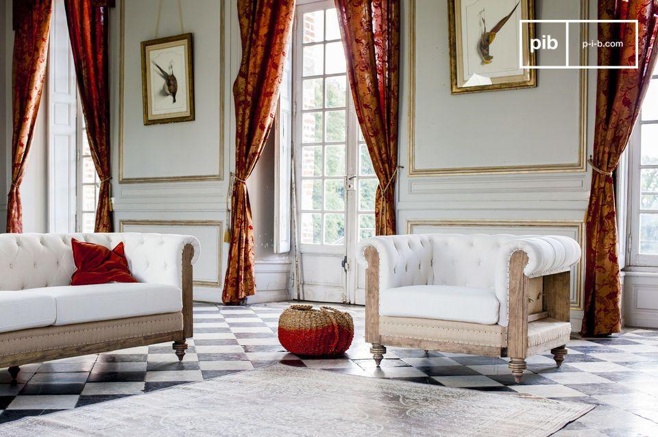 Sillon chesterfield montaigu sof de lino pib - Sillon para leer ...