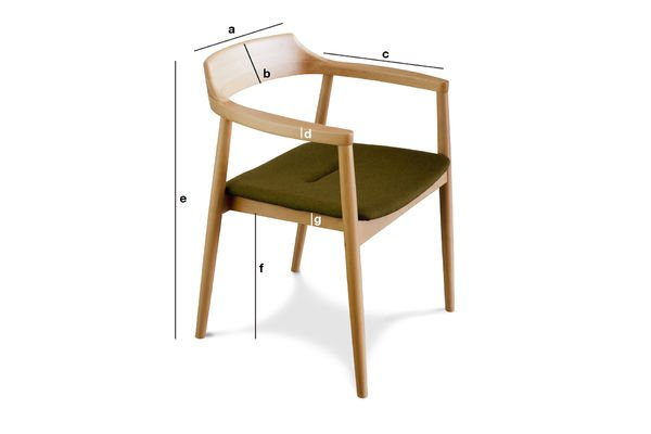 Dimensiones del producto Sillón Copenhagen