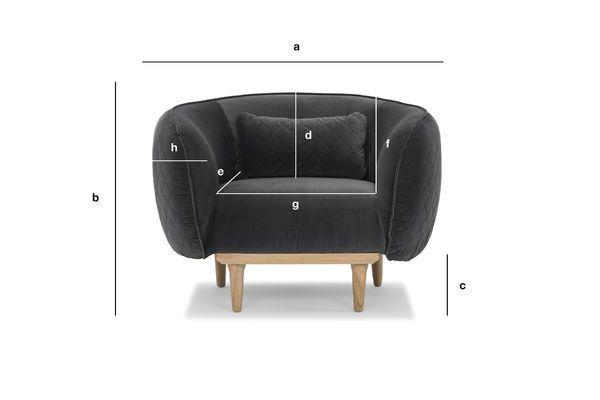 Dimensiones del producto Sillón Curvilíneo Olson