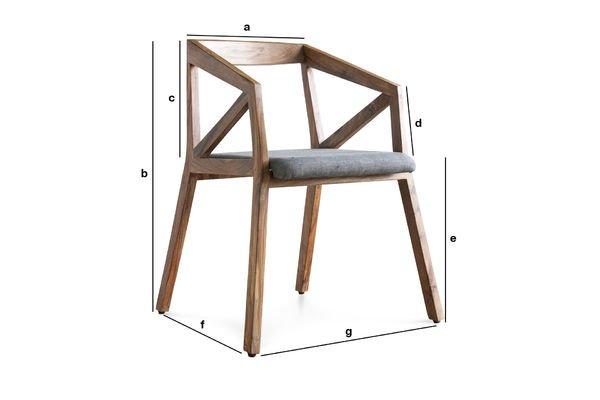 Dimensiones del producto Sillón Danish 54