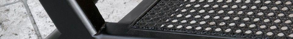 Descriptivo Materiales  Sillón de caña Thisted negro
