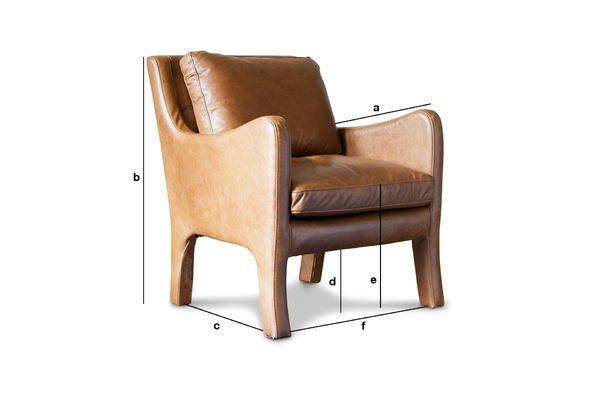 Dimensiones del producto Sillón de cuero Edimburgo