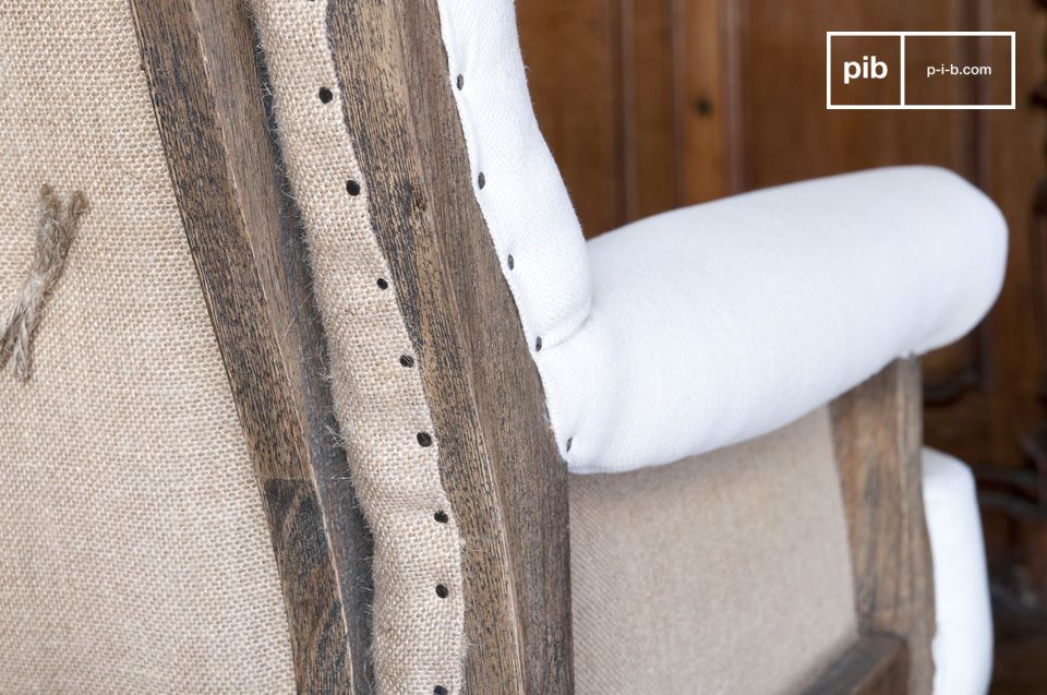 El sillón de lino dará carácter a sus interiores