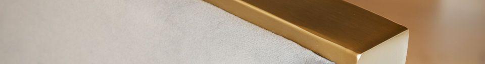 Descriptivo Materiales  Sillón de terciopelo de Brompton