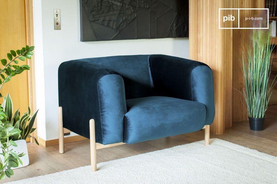 Un sillón escandinavo atemporal, perfecto para un toque de color en su interior