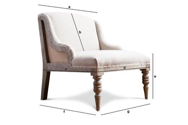 Dimensiones del producto Sillón Dumas