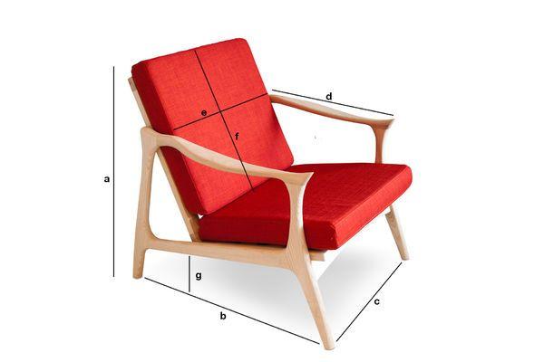 Dimensiones del producto Sillón escandinavo Aarhus
