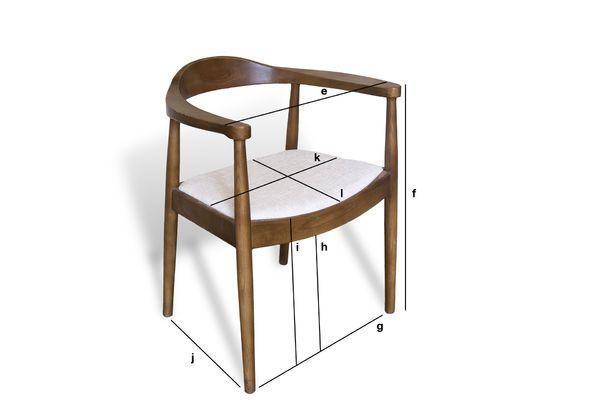Dimensiones del producto Sillón Escandinavo Johannes