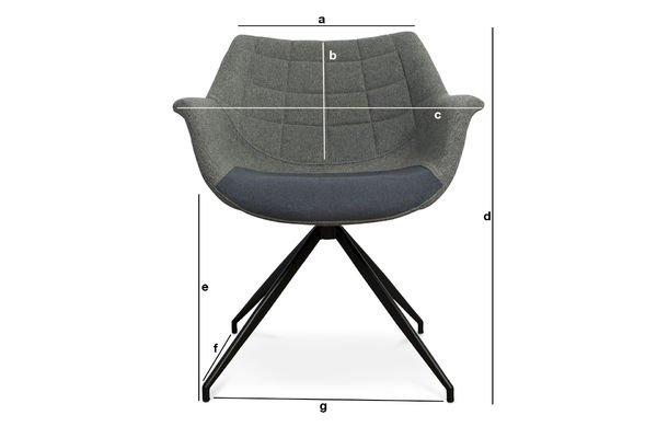 Dimensiones del producto Sillón gris Grimsson