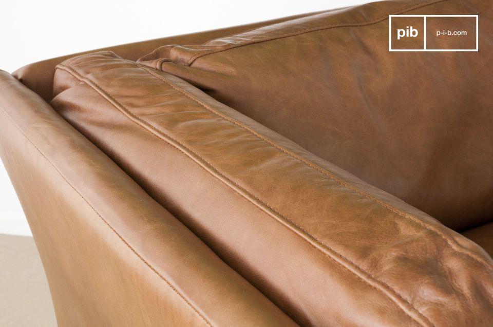 Quizás uno de los sillones vintage de cuero de mayor éxito y más bellos de la categoría de