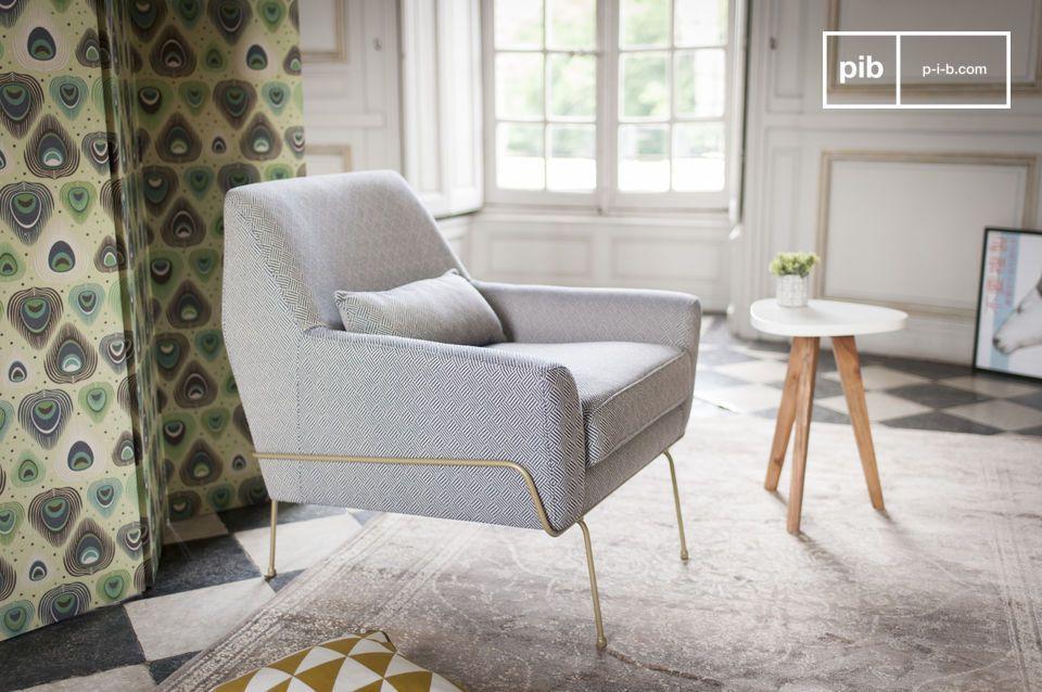 Una elegancia retro y chic y un confort ideal: el sillón Hilda dará un toque vintage a su rincón