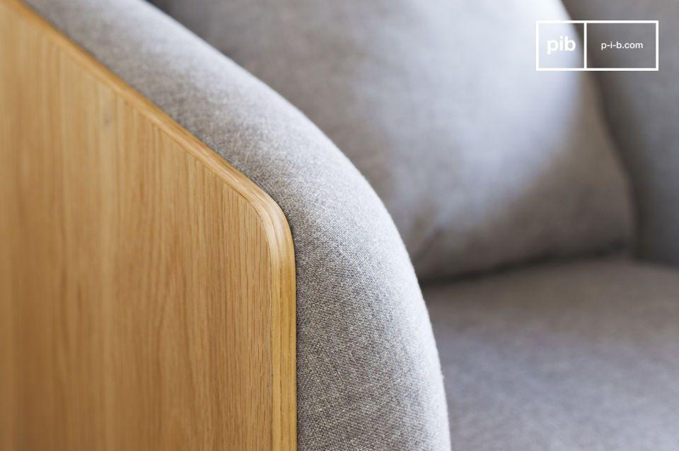 El sillón Jackson muestra cierta elegancia con sus líneas rectas