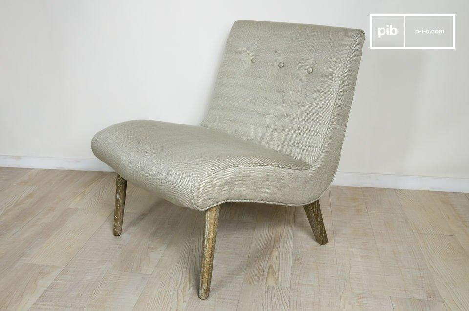 Sillón con todo el estilo de los años 50, robusto y confortable