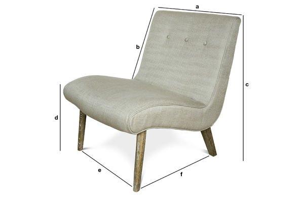 Dimensiones del producto Sillón Vintage Northern