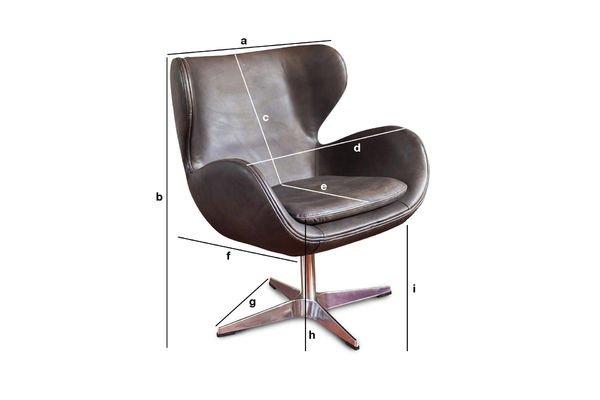 Dimensiones del producto Sillón vintage Orquestra