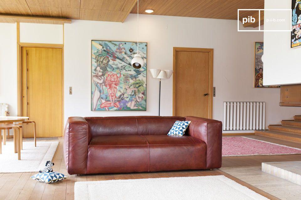 Sofá de cuero con diseño excepcional