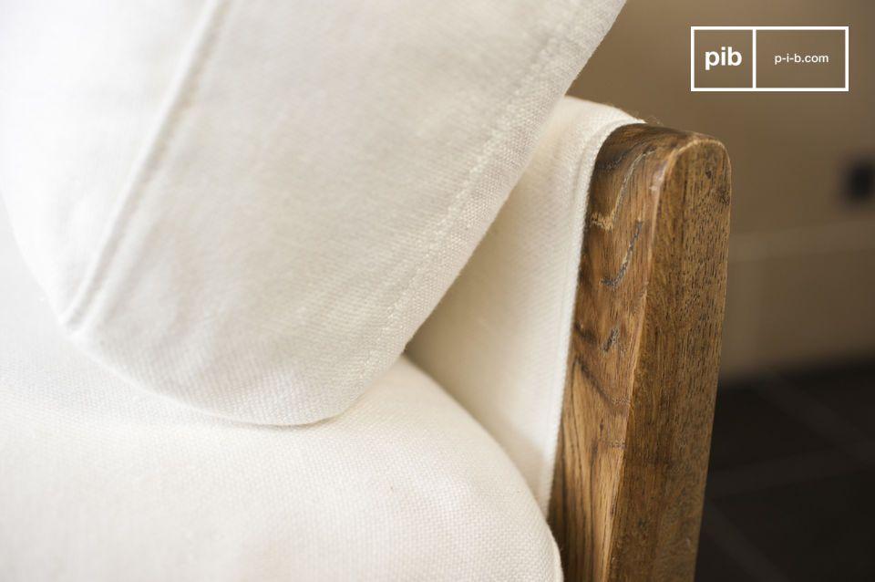 El sofá Ariston blanco es un mueble de sala que tiene toda la elegancia que su interior necesita