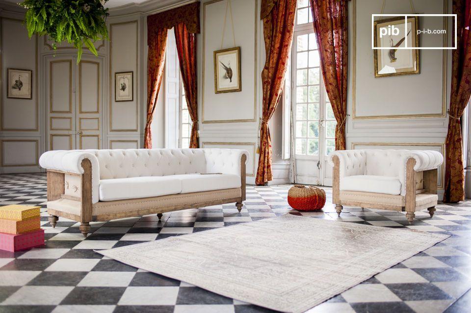 Este mobiliario será perfecto en una sala de estar para leer un libro o dar la bienvenida a sus