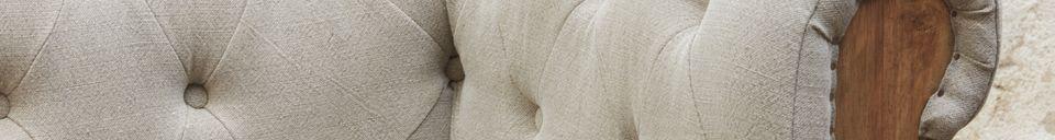 Descriptivo Materiales  Sofá Chesterfield Montaigu 2 plazas en gris