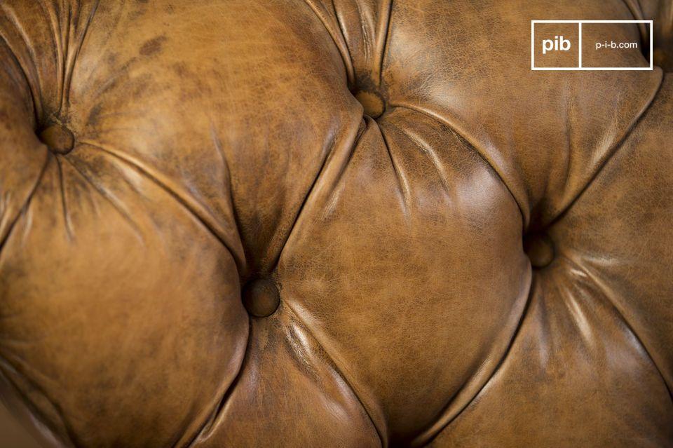 Una sofá en cuero vintage de excepción