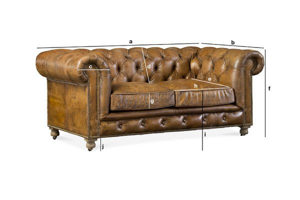 Dimensiones del producto Sofa Chesterfield Saint Paul