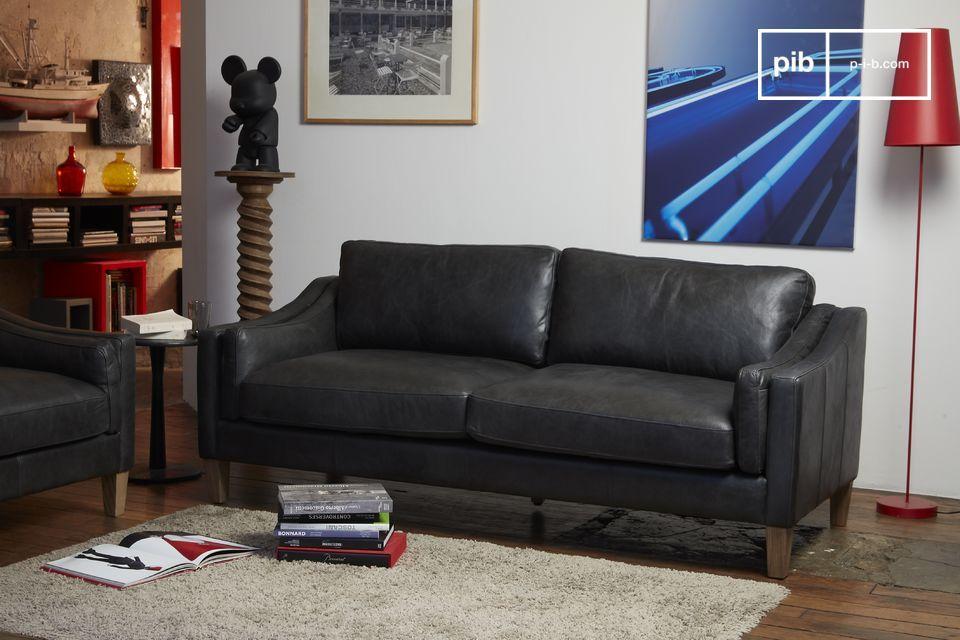 Piel de calidad, confort excepcional, para un sofá fácil de integrar
