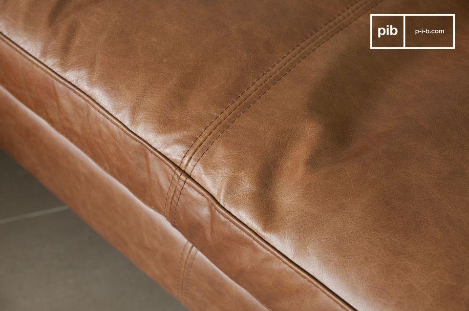 Sofá de cuero Hamar - 5
