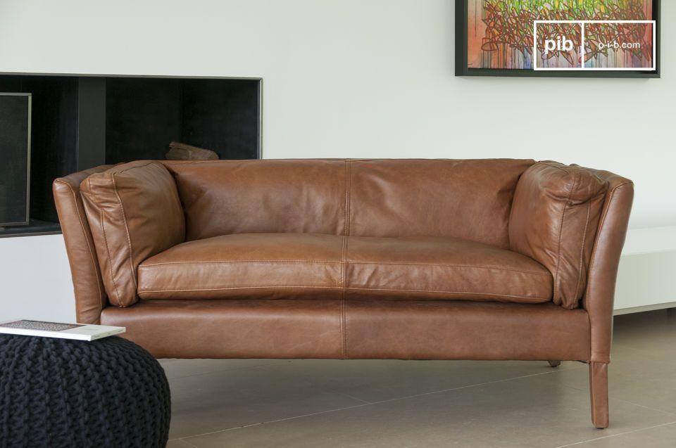 Sofá de cuero Hamar - 6