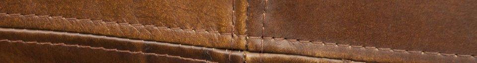 Descriptivo Materiales  Sofá de cuero Red Baron