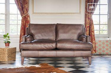 Sofá de cuero Sanary