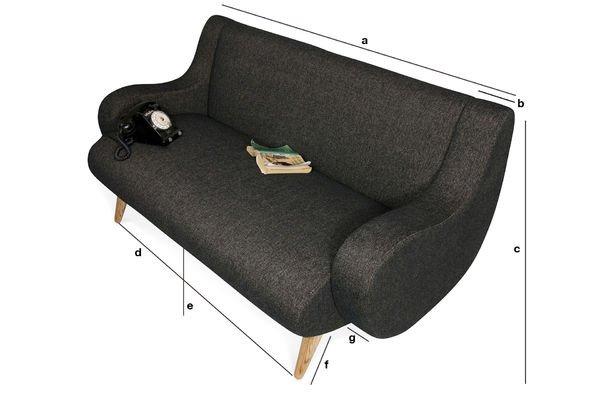 Dimensiones del producto Sofá de dos puestos Geneva