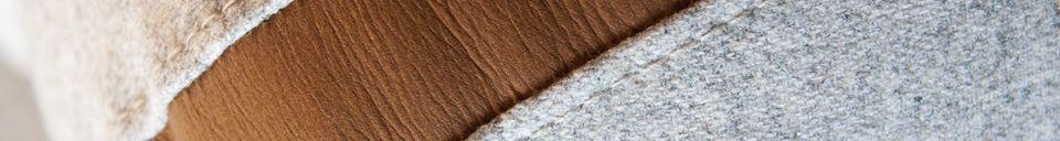 Descriptivo Materiales  Sofá de lana Britta