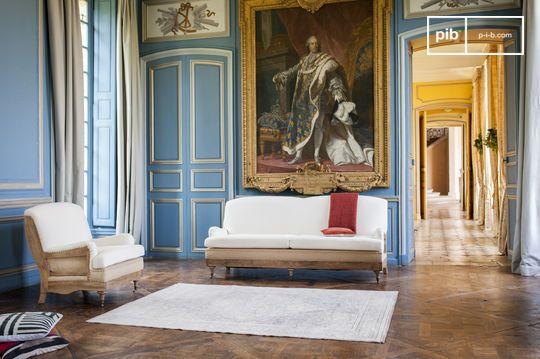 Sofá de tela Gustave